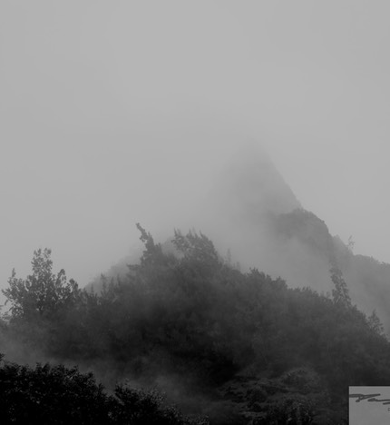 Pali Lookout in the Rain